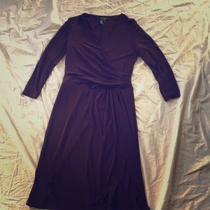 Flattering faux wrap Lauren by Ralph Lauren dress